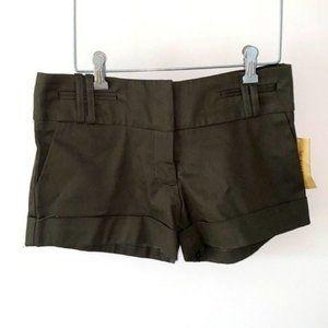 American Rag Dark Olive Green Dress Shorts Sm NWT